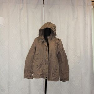 Forever 21 Tan Hooded Jacket